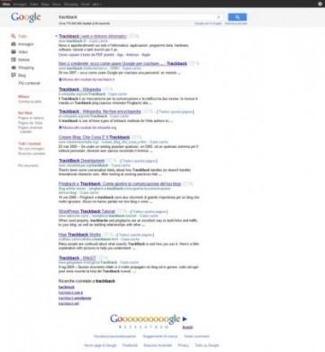Ricerca Google: grafica risultati