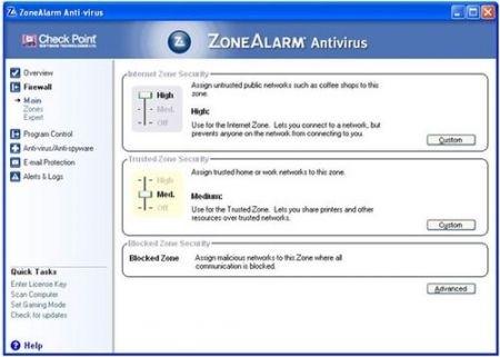 Migliori antivirus: Zone Alarm