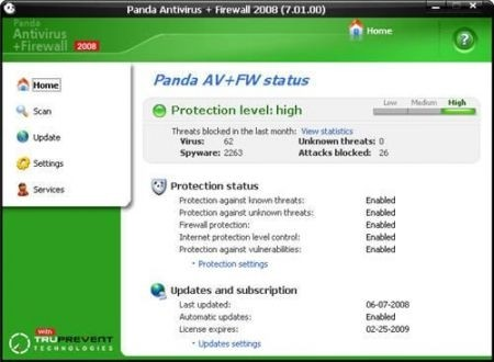 Migliori antivirus: Panda