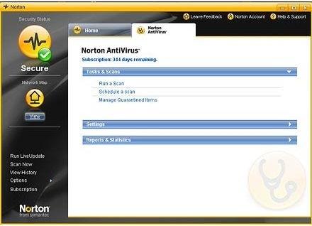 Migliori antivirus: Norton
