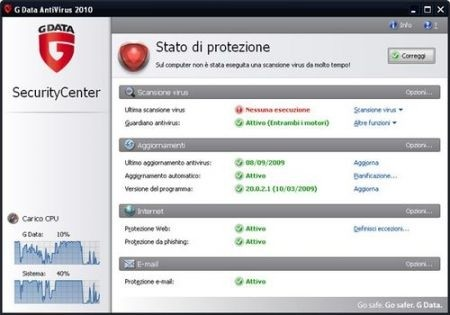 Migliori antivirus: Gdata