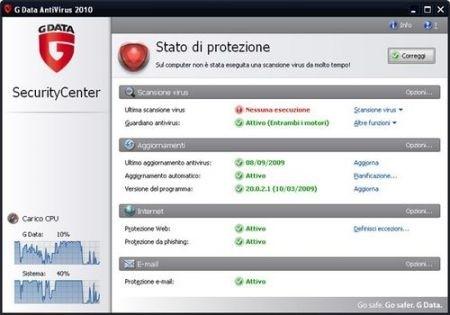 Migliori antivirus: Gdata
