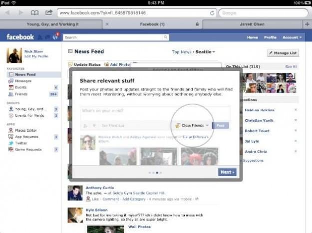 Le foto delle nuove liste intelligenti per gli amici su Facebook