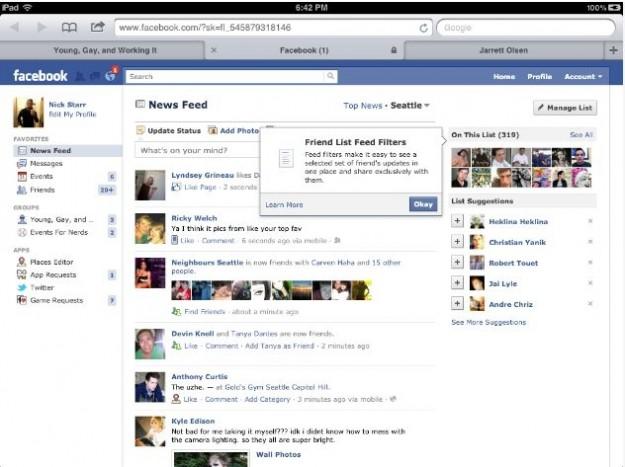 Le liste di amici su Facebook diventano intelligenti