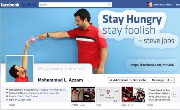 Nuova timeline di Facebook: braccio