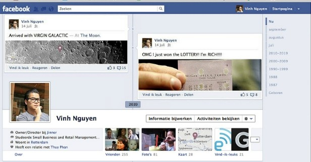 Nuova timeline di Facebook: futuro