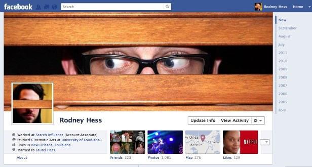 Nuova timeline di Facebook: effetto grafico