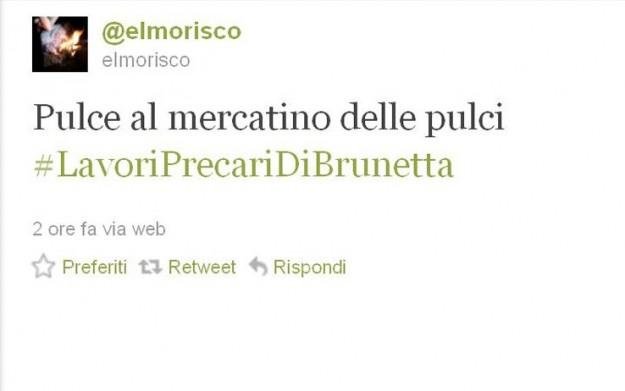 Twitter nel 2011: Brunetta