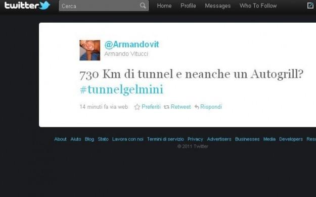Twitter nel 2011: tunnel Gelmini