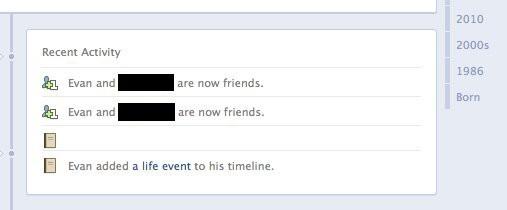 Errori di Facebook: eventi