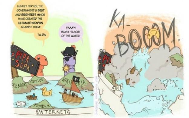 Internet contro il SOPA: le immagini più divertenti dalla rete