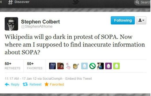 Internet contro SOPA: anche su Twitter