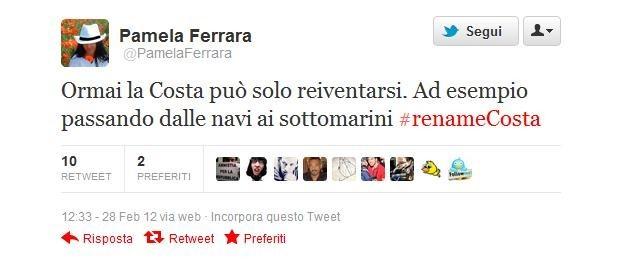 #renameCosta, un altro tweet ironico