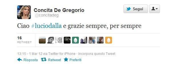 Lucio Dalla morto, Concita De Gregorio lo ricorda
