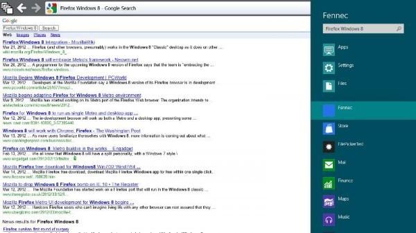 Firefox Metro sul nuovo Windows