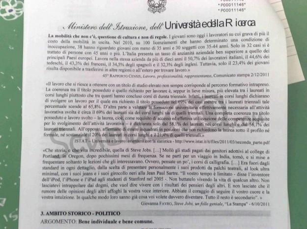 Maturità 2012, le tracce di Italiano online
