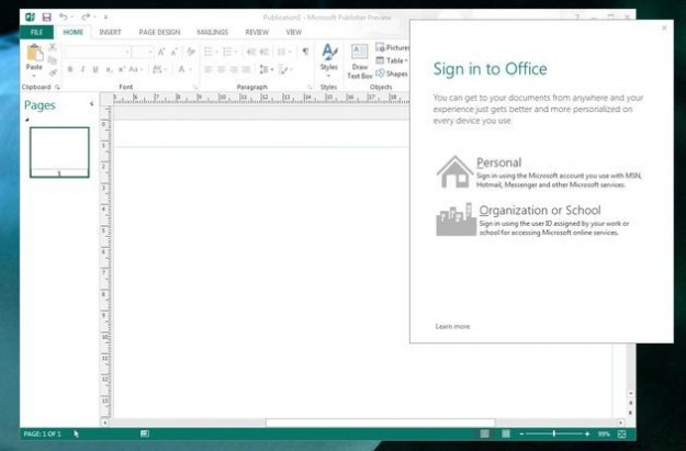Office 2013: publisher