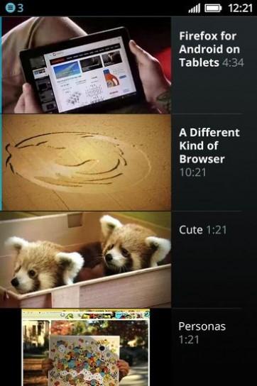 Firefox OS: video