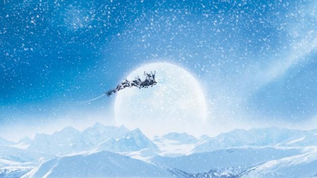 santa sky snow wallpaper - photo #1