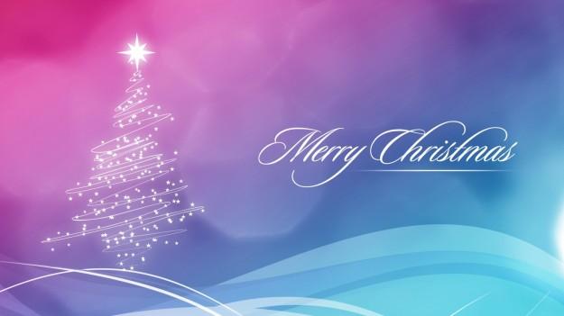Merry Christmas con albero