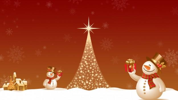 Pupazzi di neve con regali