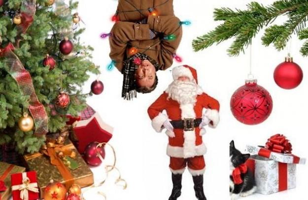 Albero di Natale con Babbo Natale