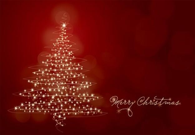 Merry Christmas con albero luccicante