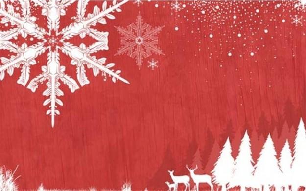 Fiocco di neve e alberi bianchi