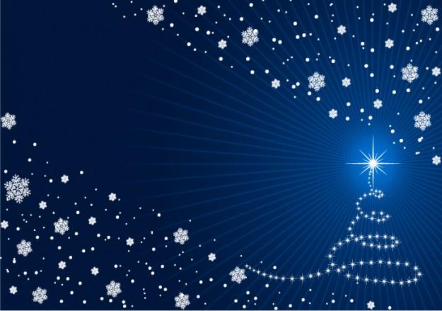 Albero di Natale con luci bianche