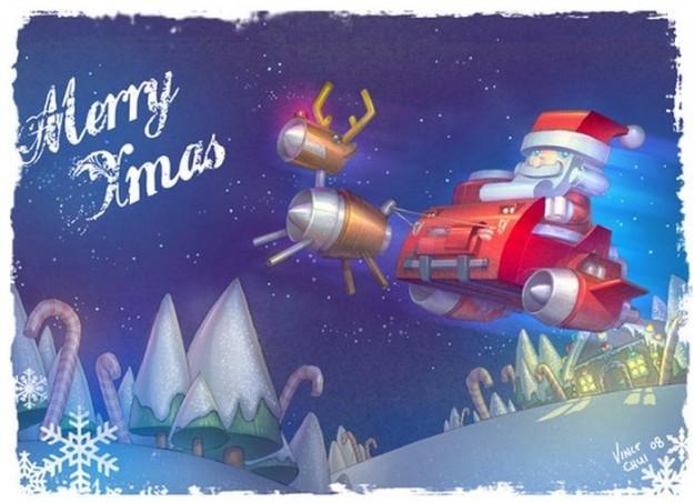 Babbo Natale e Merry Christmas