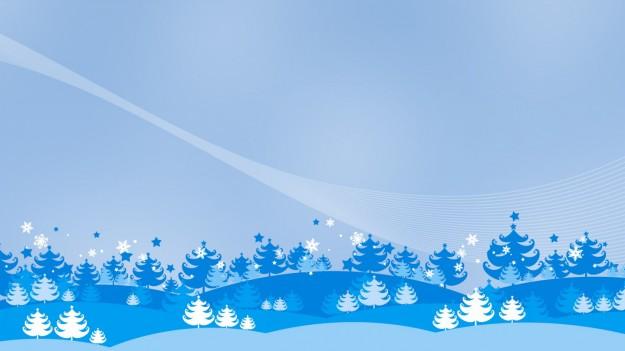 Cartolina di Natale blu