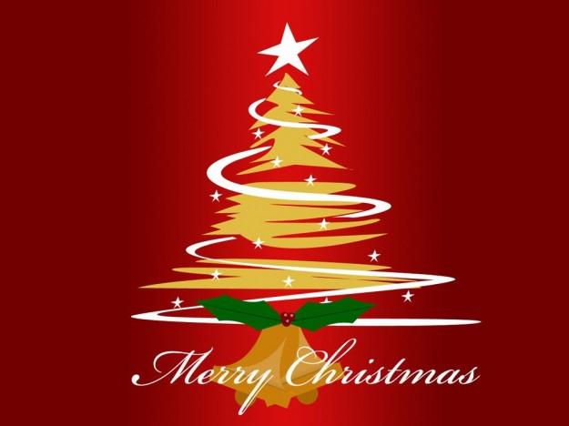 Albero di Natale giallo e rosso