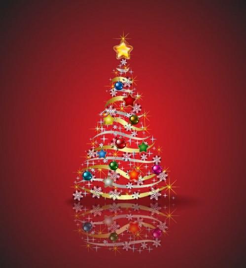 Albero di Natale colorato