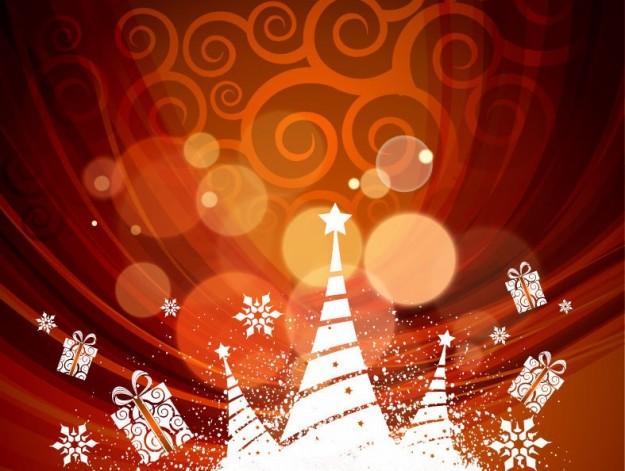 Cartolina di Natale con disegni astratti