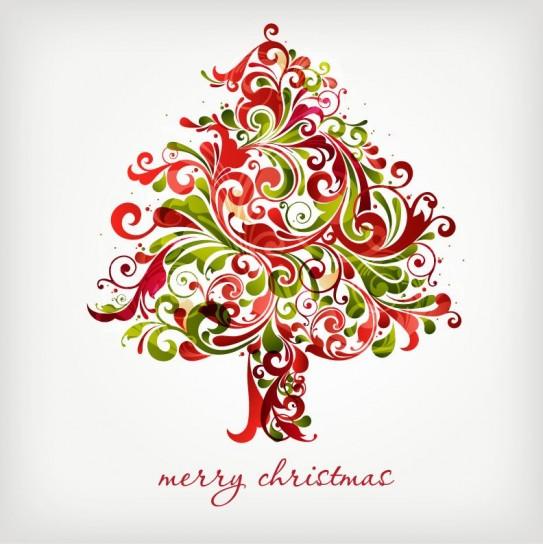 Cartolina natalizia floreale