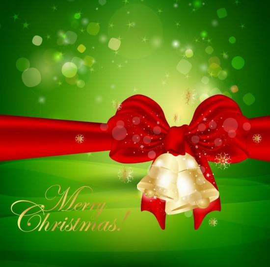 Cartolina natalizia verde e rossa