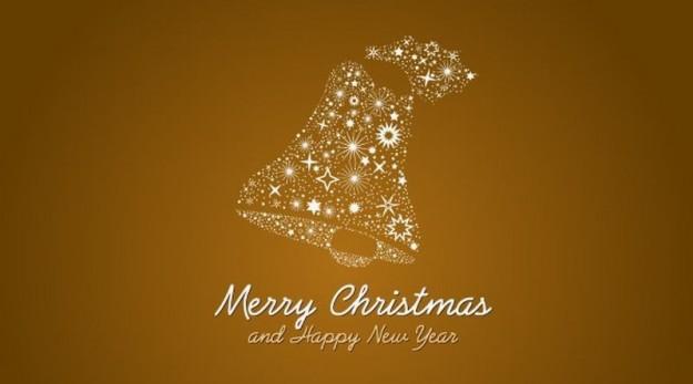 Merry Christmas con campana natalizia