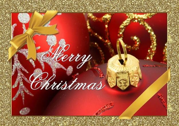 Merry Christmas con decorazioni