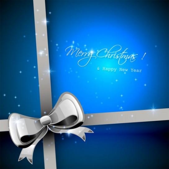 Merry Christmas con fiocco argentato