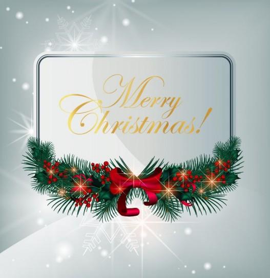 Merry Christmas con fiocco natalizio
