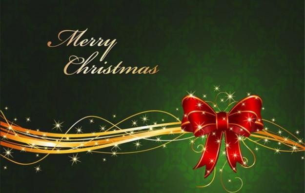 Merry Christmas con fiocco rosso