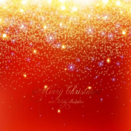 Merry Christmas con sfondo rosso