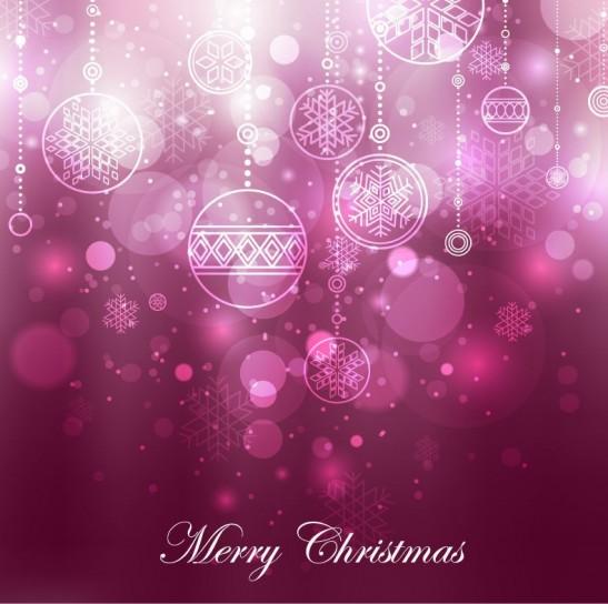 Merry Christmas con sfondo viola