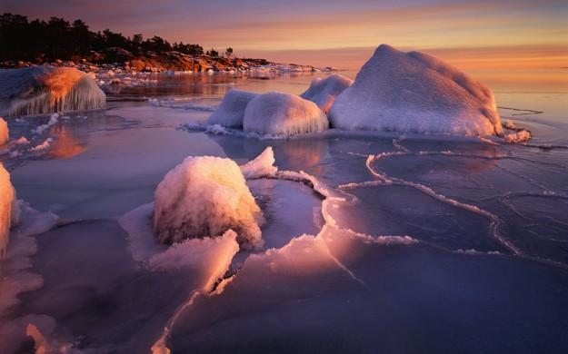 Paesaggio con ghiaccio