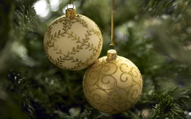 Palline di Natale dorate