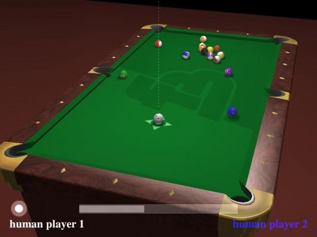 Tavolo di gioco di Foobillard