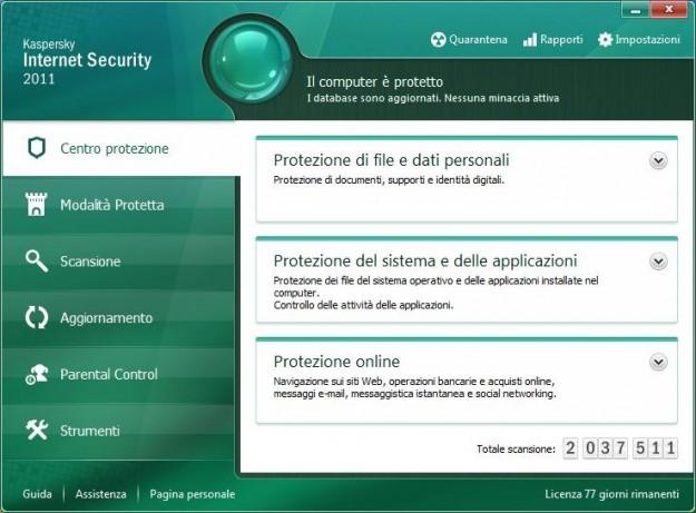 Kaspersky: pacchetto sicurezza per internet