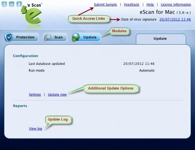 E-Scan: configurazione e report