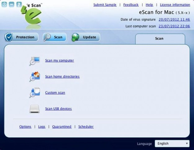 E-Scan Antivirus per Mac