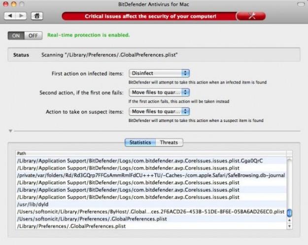 BitDefender Antivirus: infezioni